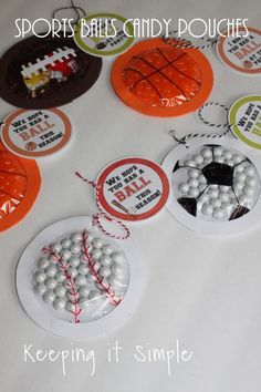 Sports Balls Candy Pouches  - An inexpensive Teacher Thank you gift idea for VBS helpers | Keeping it Simple Crafts