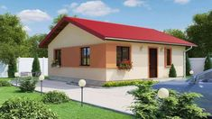 Proiecte de case de 60-70 mp - design simplu, dar estetic Mexican Style Homes, Design Case, Gazebo, House Plans, Shed, Outdoor Structures, House Design, Outdoor Decor, Modern