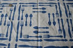 Vintage Cotton Feed Sack Feedsack Fabric  Blue by thriftstore
