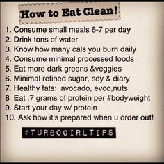HOW TO EAT CLEAN :)