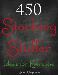 Jenna's Journey: 450 Stocking Stuffer Ideas!