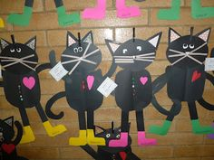 Fun For First: My templates for our version of Pete the Cat Freebie-black day Kindergarten Crafts, Classroom Crafts, Kindergarten Reading, Classroom Ideas, Origami, Cat Activity, Collage, Author Studies, Beginning Of School