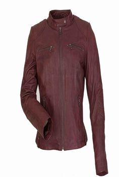 CRANSTON WOMENS DISTRESSED RED LEATHER JACKET NOW ONLY FOR £150.00–£165.00 BY UK Leather Factory