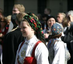 Bunad on Syttende Mai (17th May, Constitution Day). From our trip to Norway 2004.