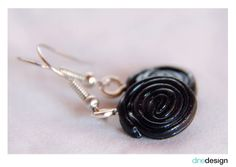 dinedesign - earrings - licorice/Lakritz/Haribo