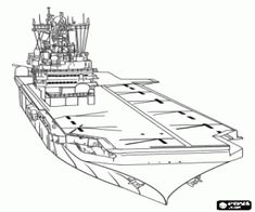 free coloring pages aircraft carrier - photo#43