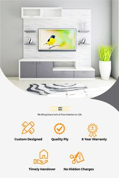 Avail the uniquely crafted TV Units for your home meeting all your taste and preference. Get exciting services only at Scaleinch. Modern Tv Unit Designs, Modern Tv Units, Living Room Cabinets, Tv Cabinets, Top Interior Designers, Interior Design Companies, Tv Unit Online, Tv Unit Furniture Design, Best Interior