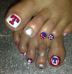 Texas rangers nail art