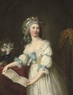 Portrait of Marie-Françoise Dumesnil by Marie-Victoire Lemoine, late 18th century