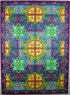 Decorative Pencil Tile Enchanting Mary Bakker 18 Division From Mirror Images Coloring Book  All Design Ideas