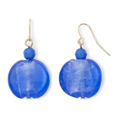 Mixit™ Gold-Tone Blue Glass Drop Earrings  found at @JCPenney