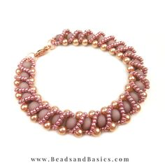 + Beading Pattern - Love the purple and rose gold combination