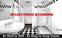 Self Cleen ST3™ | Bullet-Proof Bathroom Protection Coat – Make your Bathroom - Bullet-Proof - against stains, soap scum, limescale and water damage. Self-Cleen ST3 Bullet-Proof Bathroom Super-Protectant instantly makes Bathrooms Fully Protected and Non-Stick for Infrequent Easy Wipe-down Cleaning - virtually Bullet-Proof. Available on Amazon.com and SelfCleen.comselfcleen.com