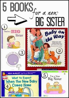 5 good books about becoming a big sister