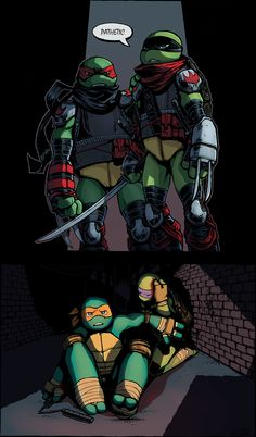 Family Bonding by WinterHeath << Never EVEREVEREVEREVEREVER EVER have this happen. EVER!! (But if it did, it'd be so cool to have Mikey and Donnie beat them. That would show they are strong.)