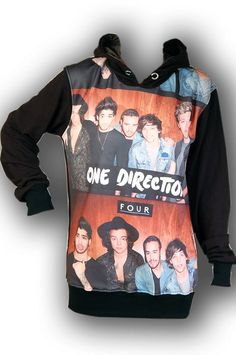 One Direction 1D Boyband Punk Rock Hoodie Jacket by Feverfabric