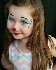 It's Marcela Murad day at the 'Inspiration To Paint' group today #facepaint #facepainting #sillyfarm #clown #daughter #cute #love #happy #like #likeforlike