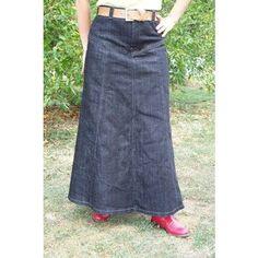 long western denim skirt, like it much