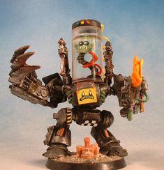 Cybork Head In A Jar, Orks, Warhammer 40k, Kustom