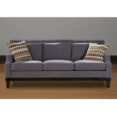 @Overstock - Bring style and sophistication to your home decor with this dark grey, polyester upholstered sofa. Espresso finished legs and two lovely throw pillows add the finishing touches to this incredible sofa.  http://www.overstock.com/Home-Garden/Jai-Ash-Sofa/6393735/product.html?CID=214117 $662.99