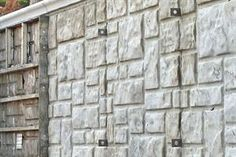 Aluminum Ashlar Stone Concrete Form from Wall-Ties & Forms Inc. World Of Concrete, Concrete Forms, Concrete Color, Work Site, Building Materials, Ties, Construction, Stone, Wall