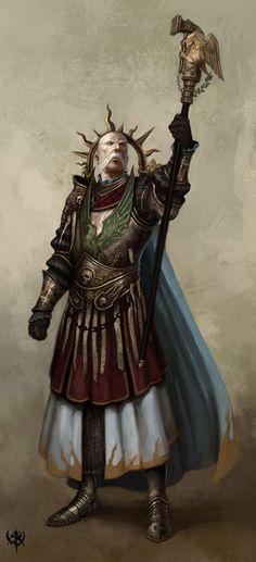 Warrior Priest of Sigmar. Warhammer art by Daarken  (Mike Lim).