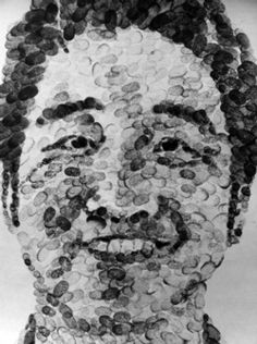 alternative portrait thumbprints - what else could be used instead of thumbs to apply media that makes it about the self?