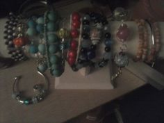 A sampling of some of my bracelets I've made this week!!