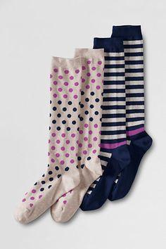 Gifts Under $30: Polka Stripe Socks (2-pack) from Lands' End - $14