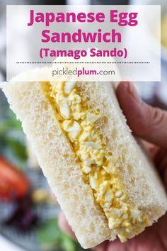 Egg Salad Sandwiches, Sandwich Recipes, Snack Recipes, Japanese Egg Sandwich Recipe, Japanese Milk Bread, Japanese Food, Easy Asian Recipes, Japanese Recipes, Steamed Sweet Potato