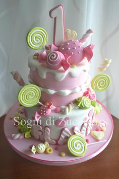 pink candy cake | Maria Letizia Bruno | Flickr