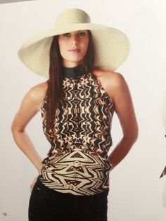 Fabulous Duo!  Hat & Halter by Gottex.  Love it.