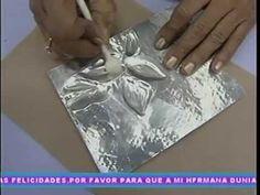 Revistero de Ideas con la Prof Rosa Morales. Repujado sobre servilleta e imitación madera 1/2 - YouTube