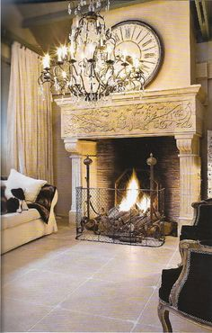 gorgeous fireplace...