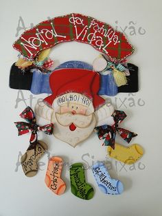 Noel personalizado by Pintura Country-Atelier Sipaixão, via Flickr