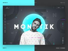 Singer's website shot by Alex Egorov Design Web, Design Sites, Design Blog, Web Design Trends, Design Concepts, Portfolio Website Design, Website Design Layout, Web Layout, Layout Design