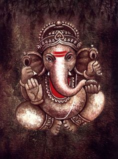 Ganesha Drawing, Lord Ganesha Paintings, Spiritual Paintings, Ganesha Art, Texture Painting On Canvas, Buddha Painting, Fabric Painting, Watercolour Painting, Ganesha Pictures