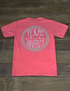 The circle of your life revolves around Texas State! Show your love for your school in this new Comfort Color TXST t-shirt! GO BOBCATS