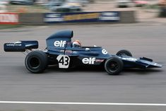 1973: Francois Cevert in the Tyrrell 006 Ford, which pushed wings as far fore and aft as possible. Teammate Jackie Stewart was world champion.