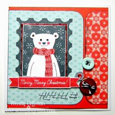 Stamping Rules!: Retro Sketches Bear #Snowhaven #ArtPhilosophy #paperpiecing