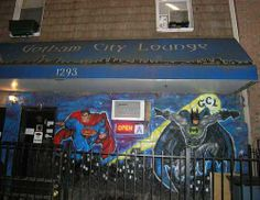 Gotham City Lounge - A superhero theme bar in Bushwick, Brooklyn New York City
