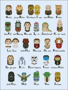 Alphabet Cross Stitch Patterns | ... Products Cross Stitch Patterns Alphabets Star Wars alphabet sampler
