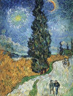 Road with Cypress and Star, 1890. Vincent van Gogh