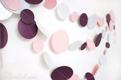 Items similar to Silver Purple Pink White Party Garland Hen Party Decoration, Wedding Garland, Paper Garland, Birthday Decor, Baby Room Decoration on Etsy Party Garland, Garland Wedding, Hen Party Decorations, Birthday Decorations, Gold Paper, White Paper, Dark Purple, Pink White, Baby Room Decor
