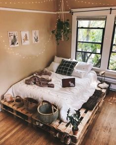 Beautiful cozy bedroom is designed and photographed by ., Beautiful cozy bedroom is designed and photographed by . Beautiful cozy bedroom is designed and photographed by. Bedroom Loft, Bedroom Inspo, Master Bedroom, Bedroom Retreat, Bedroom Inspiration Cozy, Modern Bedroom, Master Suite, Comfy Room Ideas, Earthy Bedroom