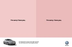 It's important to stop at the right moment. The new Passat with City Emergency Brake. - Volkswagen Passat:  Sorry