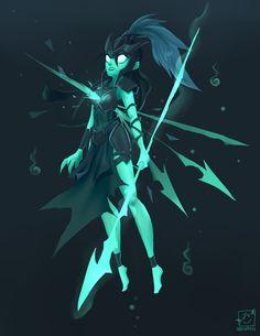 "Practice. Kalista from League of Legends (´・ω・`) """