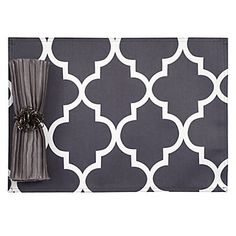 charcoal mimosa placemats. I can't get over this stensil.! :) Maybe add some turquoise ro Raspberry. Even purple! YAY!