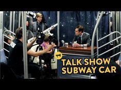 Talk Show Subway Car. I love the band leader!!!