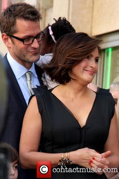 Peter Hermann and Mariska Hargitay at Hollywood Walk of ceremony for mariska's hollywood walk of fame star ...